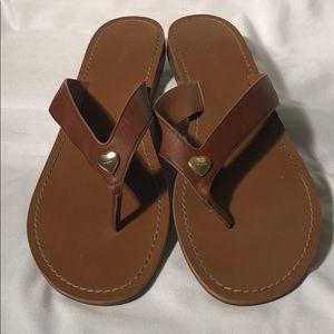 Coach Heart Sandals